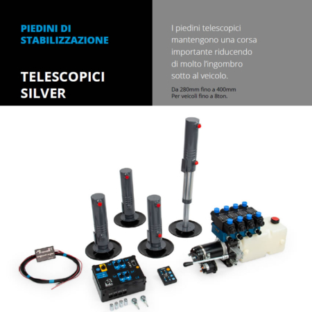 Vendita e installazione Piedini di stabilizzazione telescopici silver