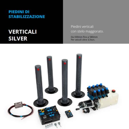 Vendita e installazione Piedini di stabilizzazione verticali silver