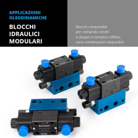 Vendita e installazione applicazioni oleodinamiche blocchi idraulici modulari